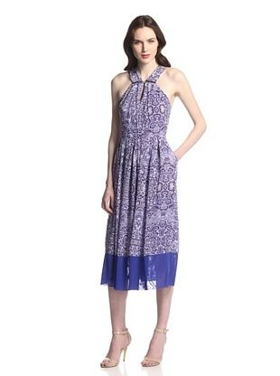 60% OFF Rachel Roy Women's Arabian Tile Print Halter Dress (Arabian Night Multi)