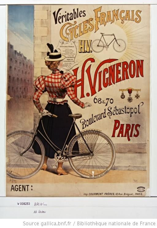 Victorian cycling advertisement.