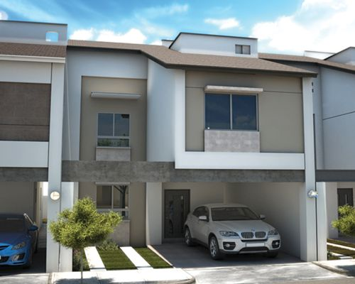 Fotos e im genes de fachadas de casas contempor neas y for Casas decoradas estilo contemporaneo