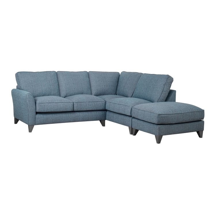 Brilliantly versatile, our 'Fyfield' range combines optimum comfort with a pared-back, stylish design which will complement any decor. Available in a range of muted tones, this corner sofa features textured fabric with a rich, mottled finish and high-grade foam cushioning for long-lasting durability and enveloping comfort. Perfect for creating a modern yet relaxed look and feel.