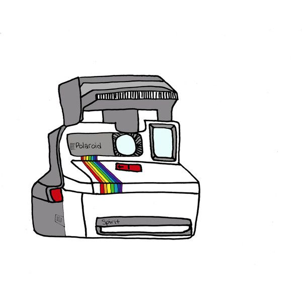 polaroid camera- 5X7 illustration print ($10) liked on