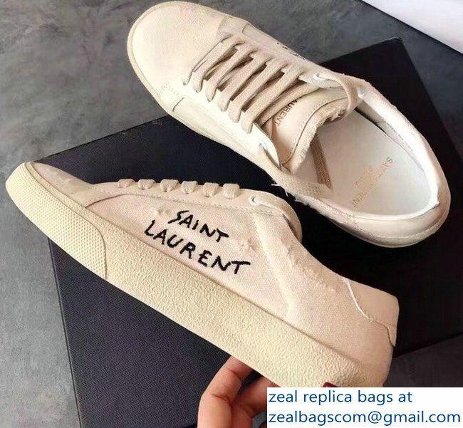 Saint Laurent Signature Court Sneakers