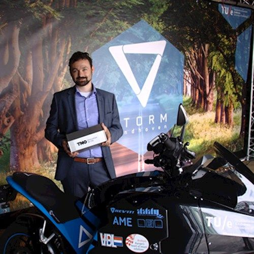 STORM is a team of high-potential students at TU/e. They succeeded in their mission to create the first electrical touring motorcycle in the world by making it comfortable, easy to use and let it ride further than any electric motorcycle has gone before.