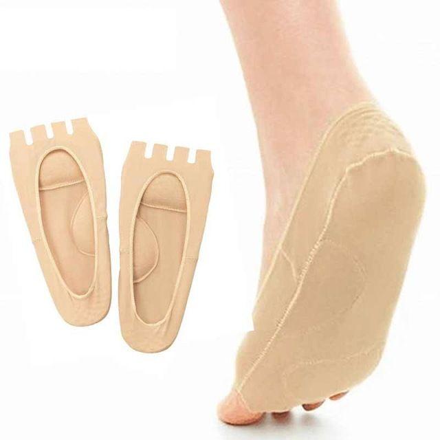 3 Par Cinco Calcetines Del Dedo Del Pie Alivio Del Dolor Soporte para Para Proteger Massager Del Dedo Del Pie Tacones Antideslizantes Calcetines Calcetines Pedicura pies Cuidado de Los Pies