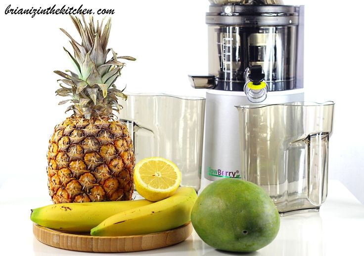 Tropical Detox Juice : mangue, bananes, ananas, citron