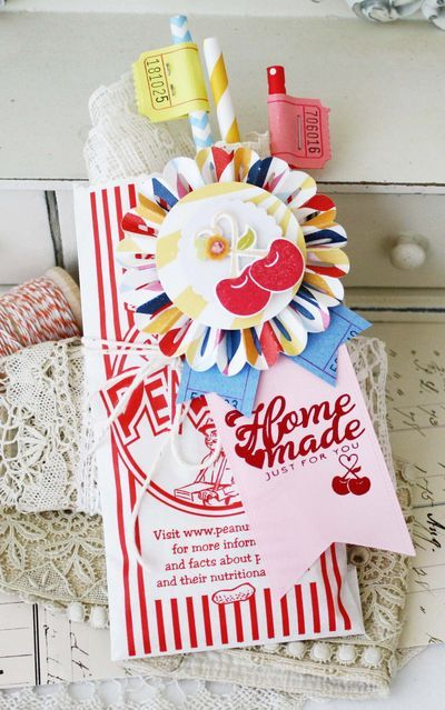 This card uses the County Quilt Block die, the County Fair stamp set, patterned paper, and the County Fair Medallion die, which I used across the bottom of my card to form a decorative border.