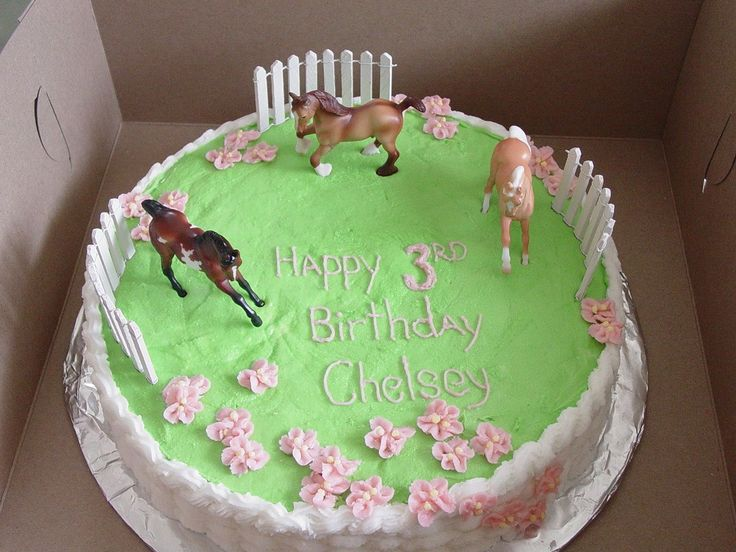 birthday cakes with horses on them