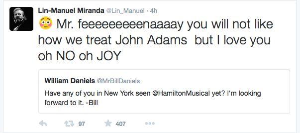 This just makes me smile :) #Feeeenaaay #Hamilton #1776 #musicals