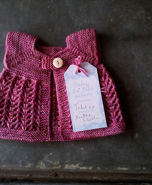 Abigail sweater - perfect simple knit for little girls . . . FREE Ravelry pattern. baby abegail by Jelly Wares, via Flickr