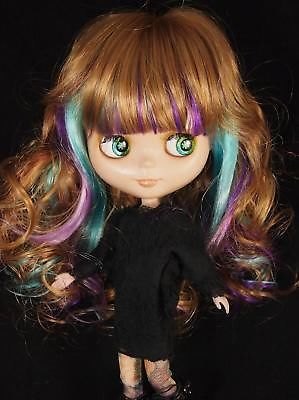 Brown-Funky-Highlighted-bangs-Hair-Wig-12-Blythe-Doll-Doll-not-included
