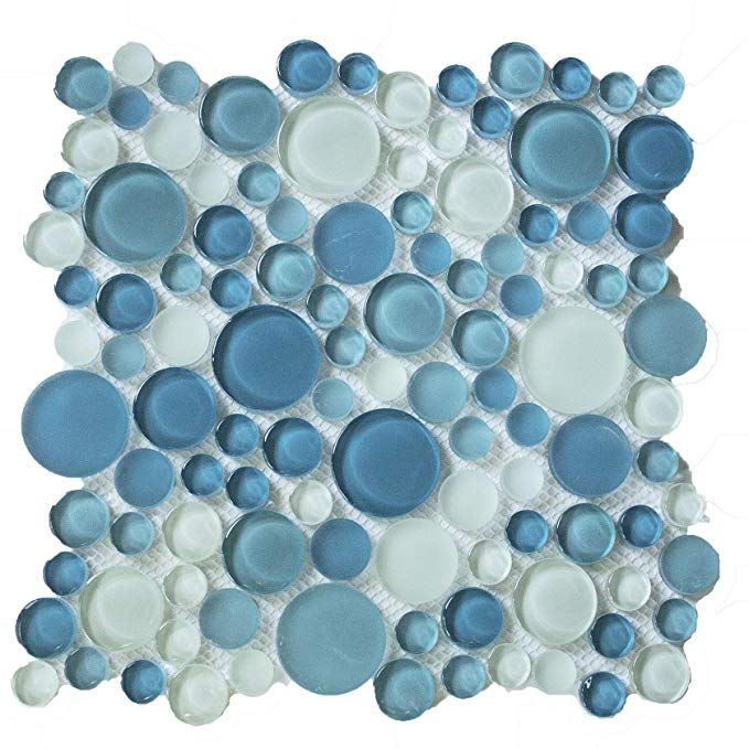 Round Bubbles Glass Tile Mosaic Crystal Glass Bubbles Round Mosaic Glass Tile M08 Blend Glossy Glass Mosaic Glass Bubble Glass Glass Tile