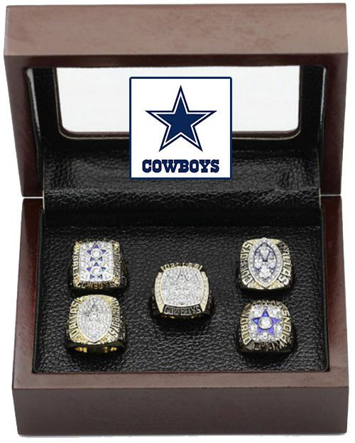 Dallas Cowboys Super Bowl Replica Ring Set (5) Years 71, 77, 92, 93, 95
