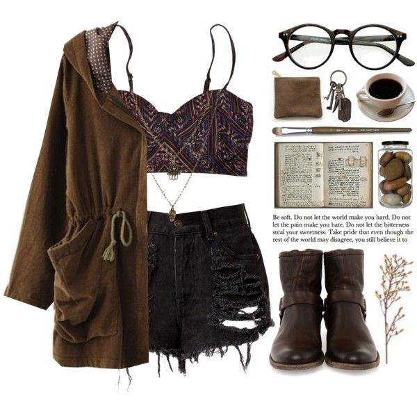 Dark brew by ctodtims on Polyvore featuring мода, Billabong, Frye, Jamie Jewellery and AllSaints