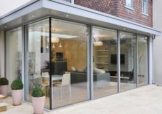 lovely pale grey doors and canopy