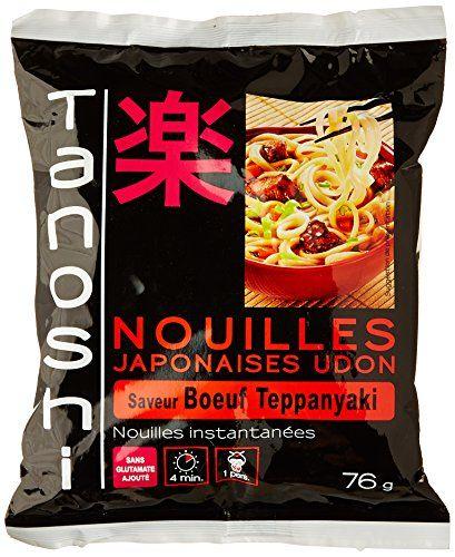 Tanoshi Nouilles Udon Instantanées Bœuf 76 g: Les nouilles instantanées Sans glutamate ajoute 1 Personne Cet article Tanoshi Nouilles Udon…