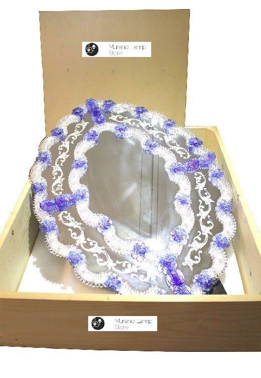 """""""Traviata"""" #Murano #glass #mirror #luxury #design #venetian #handcrafted #Muranolampstore https://www.muranolampstore.com/en/murano-glass-mirror-traviata"""
