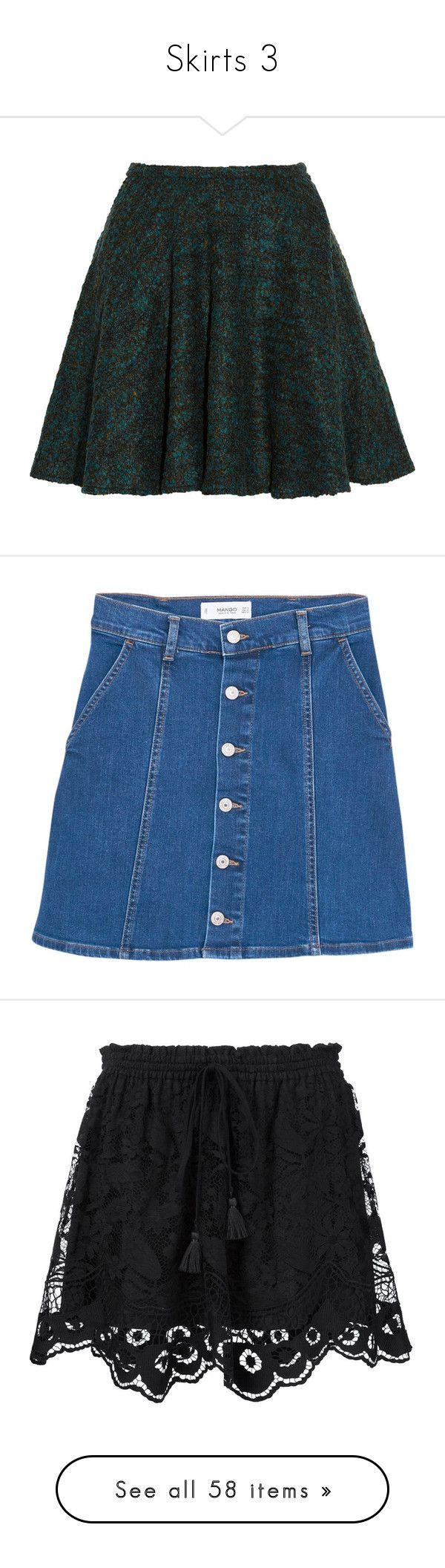 """Skirts 3"" by sinyukovayulya ❤ liked on Polyvore featuring skirts, mini skirts, bottoms, saias, faldas, kenzo, green mini skirt, flare skirts, green skirt and flared skirt"