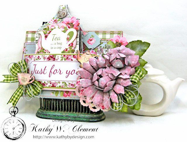 A Hug in a Cup Tea Bag Holder and Mini High Tea by Kathy Clement | www.tammytutterow.com