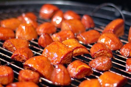 Barbecued Sweet Potatoes: Patio Daddio, Barbecue Sweet, Recipe, Bbq Sauces, Potatoes Pies, Better Bbq, Daddio Bbq, Sweet Potatoes, Bbq Sweet