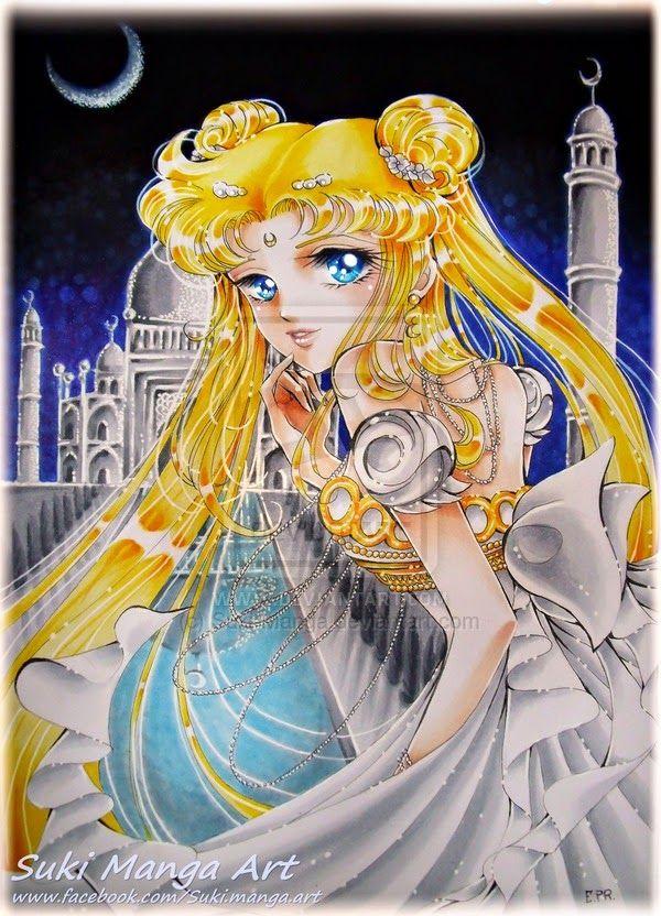 Copic Marker Europe: Princess Serenity fan art, by Suki Manga Art