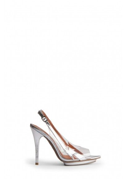 Silver Patent Heels with Lightning Bolt Awesomeness $95 at zomp.com (Jeffery Campbell Electra - Silver)