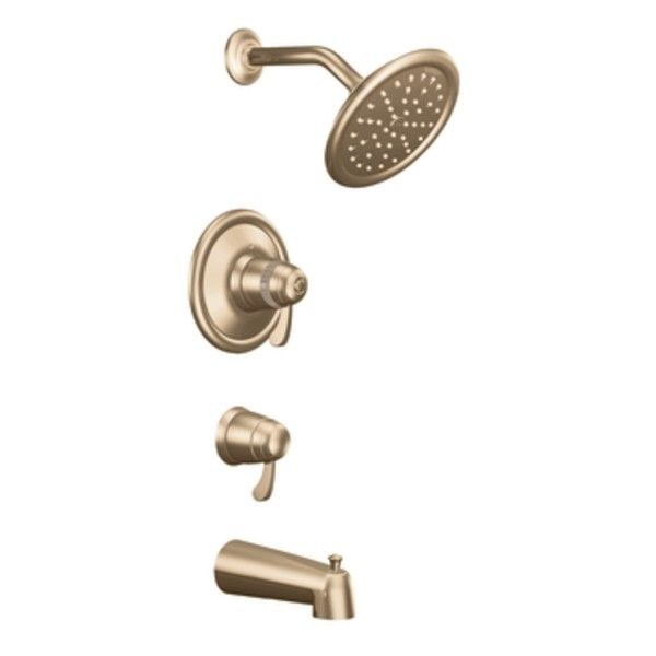 Exacttemp Tub and Shower Faucet Trim with Lever Handle