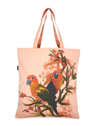 Buy Yolo - You Only Live Once peach colored Printed bag, made up of Canvas material Online, , LimeRoad
