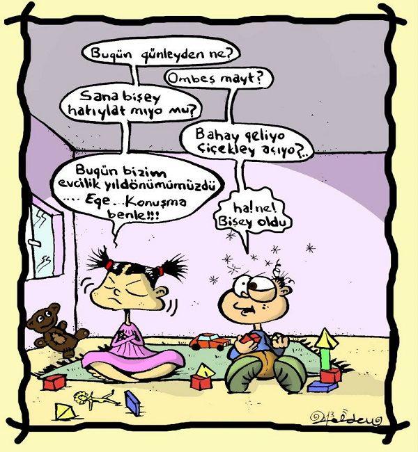 Evcilik Yıldönümü Karikatürü Erdem Toker