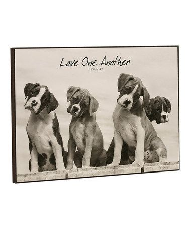 Look what I found on #zulily! 'Love One Another' Boxer Sign #zulilyfinds