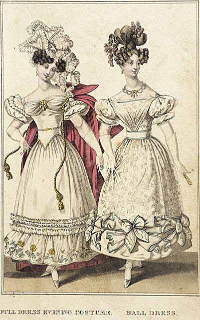 1828 La Belle Assemblee - G.B. Whitaker fashion plates from LACMA Collections Online - more can be seen at http://collectionsonline.lacma.org/mwebcgi/mweb.exe?request=jump;dtype=d;startat=697