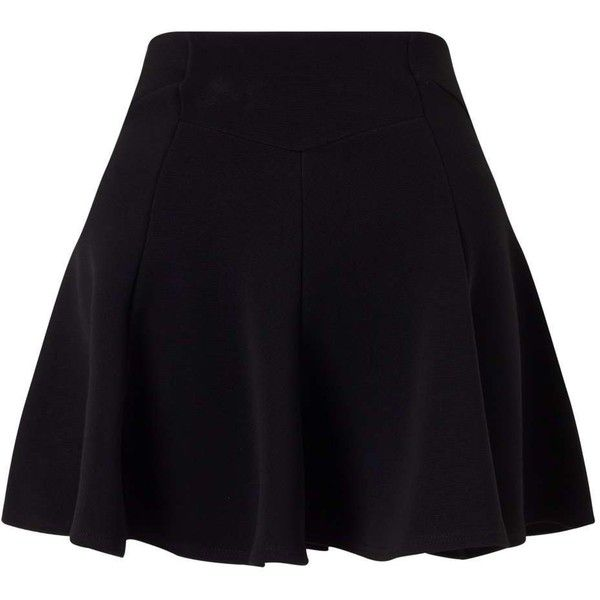 Miss Selfridge PETITE Black Circle Skirt ($49) ❤ liked on Polyvore featuring skirts, bottoms, black, petite, knee length circle skirt, skater skirt, petite skirts, miss selfridge and flared skirts