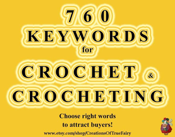 760 Stichwörter häkeln Top-Etsy-Stichwörter Suchoptimierung Artikel markieren Seo-Hilfe Seo-Stichwörter-Recherche für Stichwörter häkeln A9F