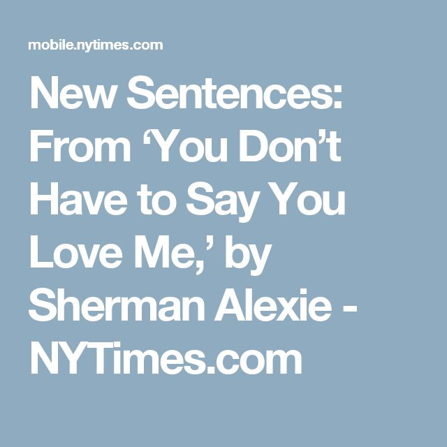 "sherman alexies do you know where i am essay Sherman alexie is an award-winning author, poet, and filmmaker  he was born  with hydrocephalus (colloquially referred to as ""water on the brain""),  fluid  accumulates in the brain cavities and can result in abnormal enlargement of the  head,  the collection is composed of nine short stories that tell of the struggles  of the."