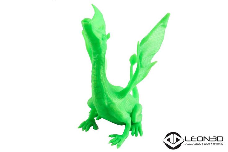 Dragón impreso por una #LIONPRO3D en #PLAVERDE  #LEON3D #LIONPRO3D #LEGIO3D #leonesp #tecnologia #innovacion #3dprinting