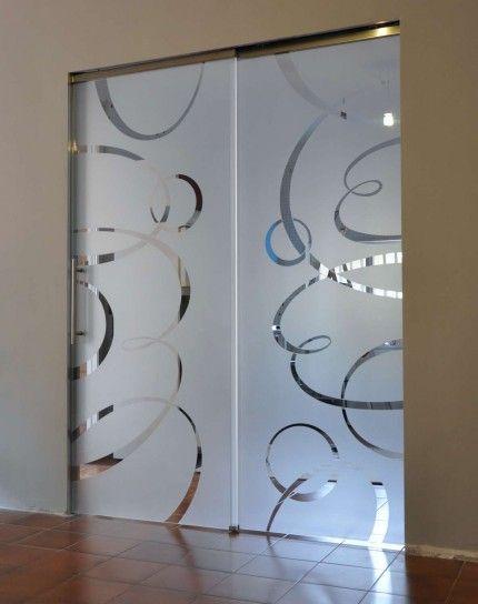 Porte vetro cristallo extrachiaro su sistema scrigno essential dual sovrapposto decoro personalizzato-1500