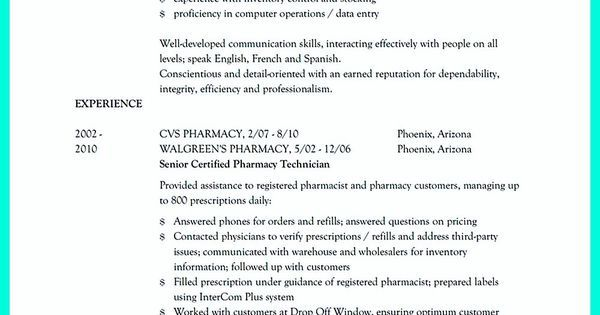 What Objectives to Mention in Certified Pharmacy Technician Resume - resume for pharmacy technician