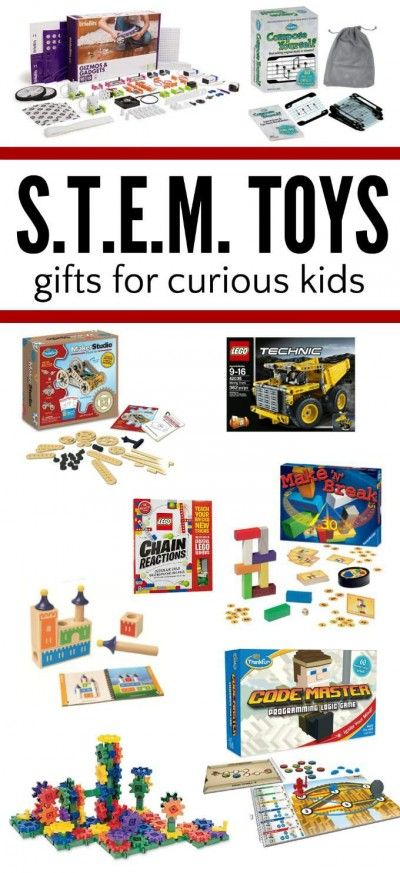 STEM learning gifts for kids. Toys and games that promote curiosity and invention.