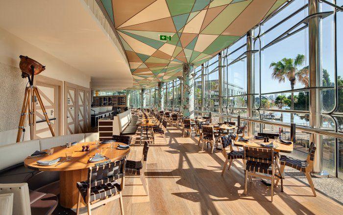 Porter's wide board timber flooring at Balla restaurant Sydney
