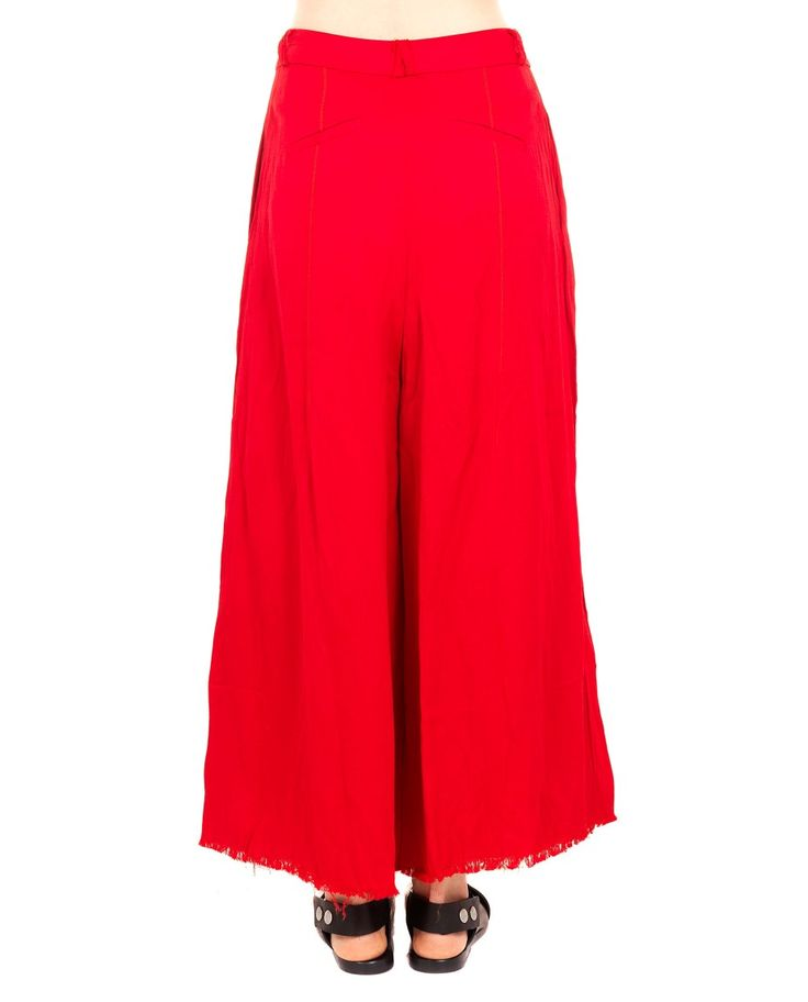 A TENTATIVE ATELIER OVERSIZE TROUSERS S/S 2016 Oversize trousers front hidden buttoning two back invisible pockets two side pockets waistband with belt loops 26 %  Linen 74% Viscose specialized wash only