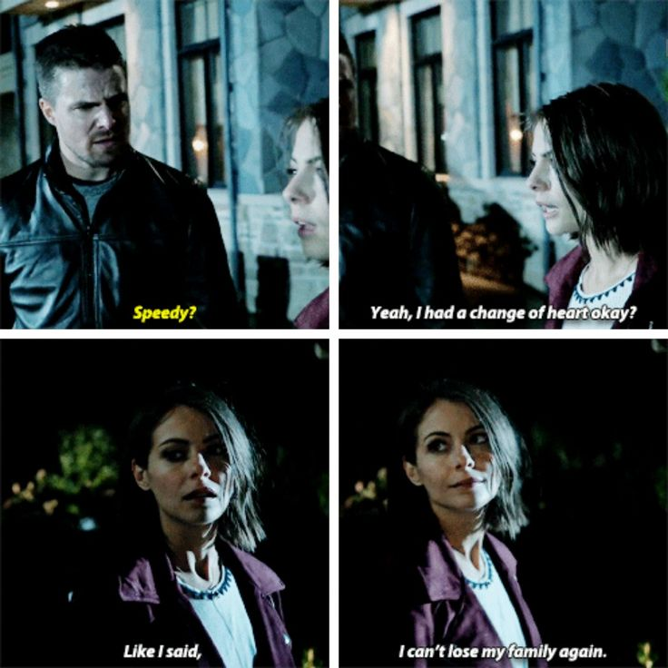 """I had a change of heart, okay? I can't lose my family again"" - Thea and Oliver #Arrow"