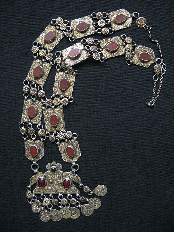 turkmenistan-fire-gilded-silver-necklace