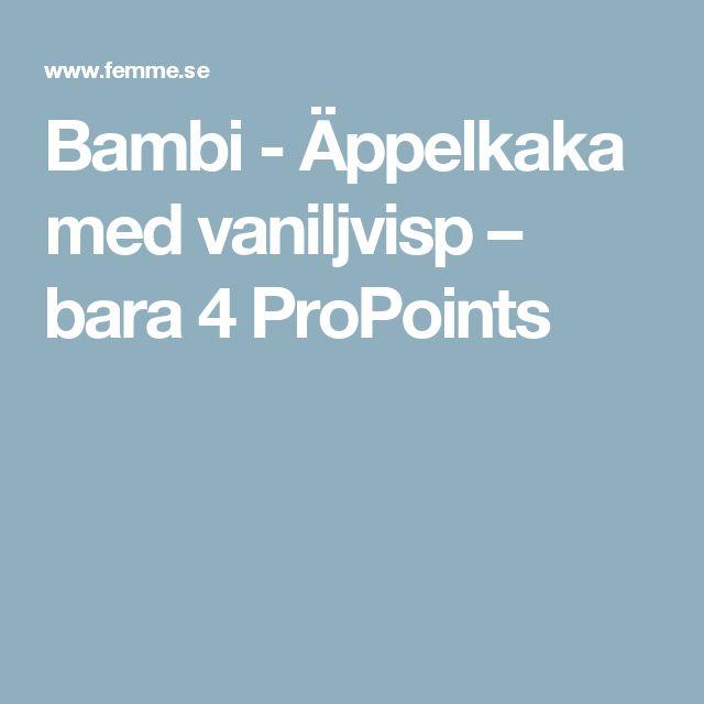 Bambi - Äppelkaka med vaniljvisp – bara 4 ProPoints
