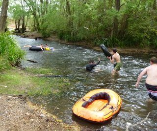 """""""Andrew Getting Tubed"""" Kids Country Holiday NSW River Email - jill.perram@bigpond.com https://www.facebook.com/pages/MANSFIELD-COTTAGE-BARRINGTON-Barrington-Tops-Holiday-Accommodation/341811962165"""