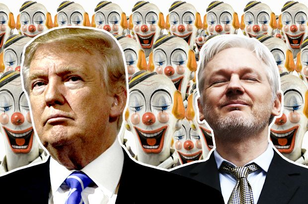 Send in the clowns: Donald Trump, Julian Assange and the enemies of liberal democracy - Salon.com