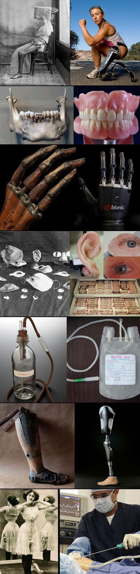 We have rounded up some pictures showing just how far medical technology has come.