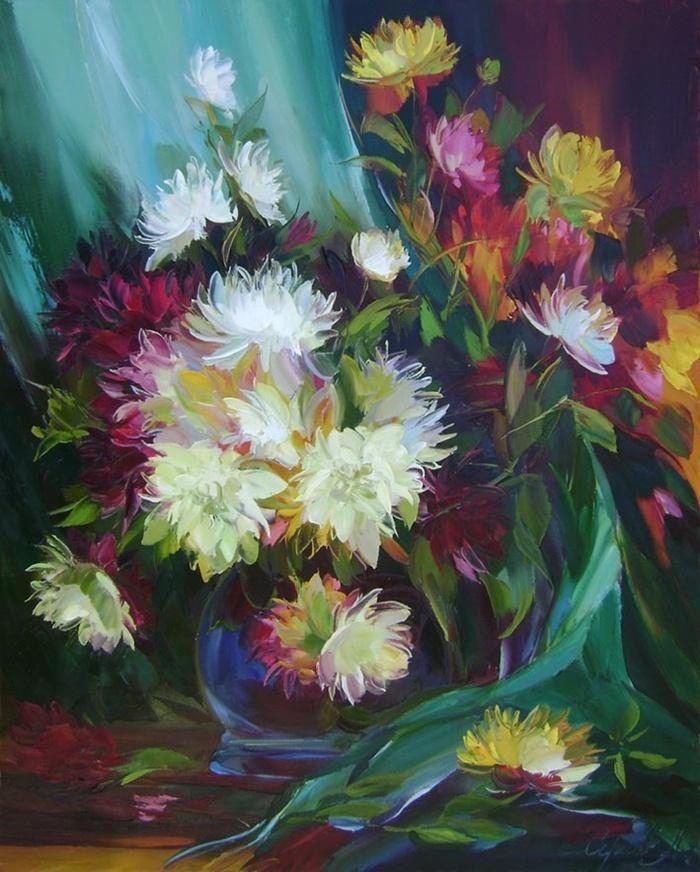 Alexander Sergeev ~ via http://marialaterza.blogspot.com/2012/02/alexander-sergeev-1968-flowers-russian.html