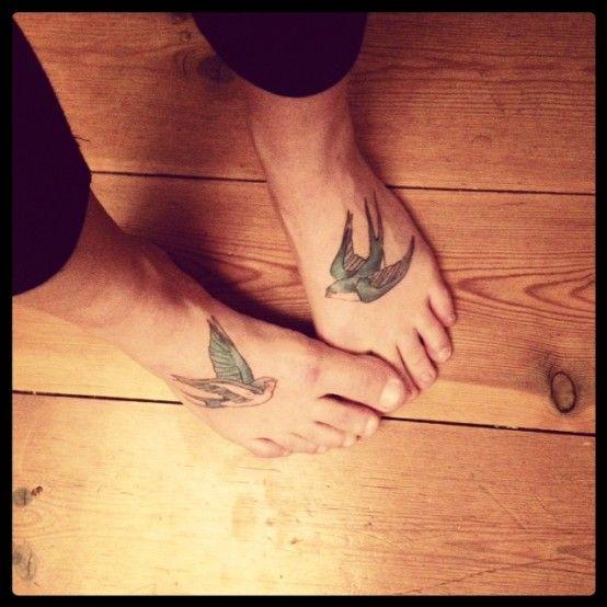 25 Best Ideas About Swallow Tattoo Foot On Pinterest