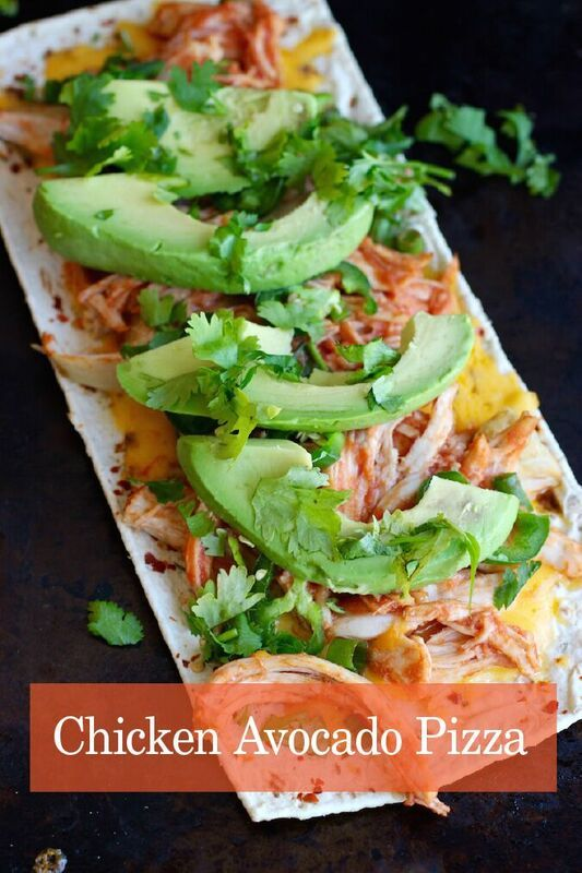 Chicken Avocado Pizza - Flatoutbread
