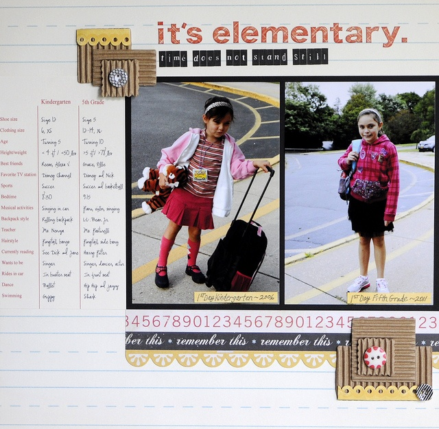 Fab page showing one child 5 years apart, with a comparison chart!