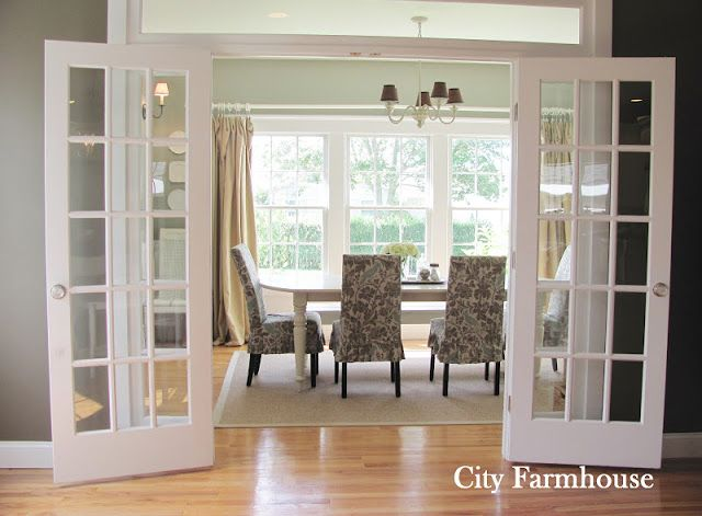 French Doors And Transom Windows For Study? City FarmhouseFarmhouse Dining  RoomsFrench ...